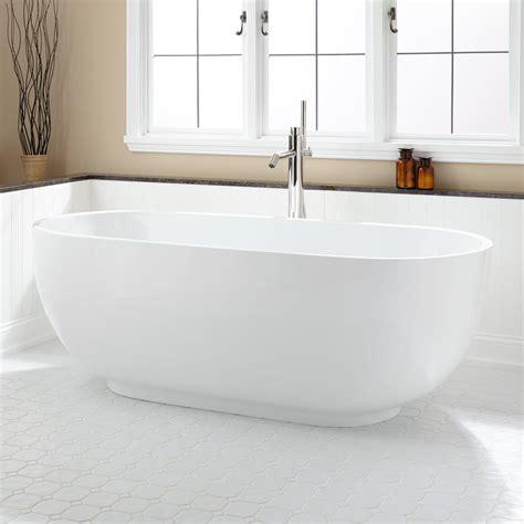 modern shelf 71 quot hazel acrylic freestanding tub bathtubs bathroom