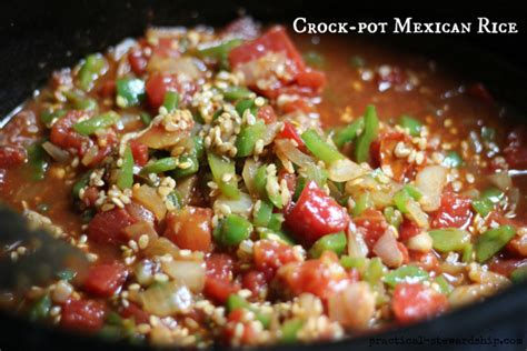 mexican crock pot recipes crock pot mexican rice or spanish rice practical stewardship