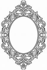 Mirror Coloring Clipart Tattoo Bird Webstockreview Framed sketch template