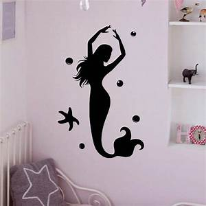 wall decal mermaid stickers under the from fabwalldecals With best decor mermaid decals for walls