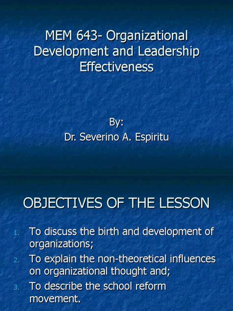mem  organizational development  leadership