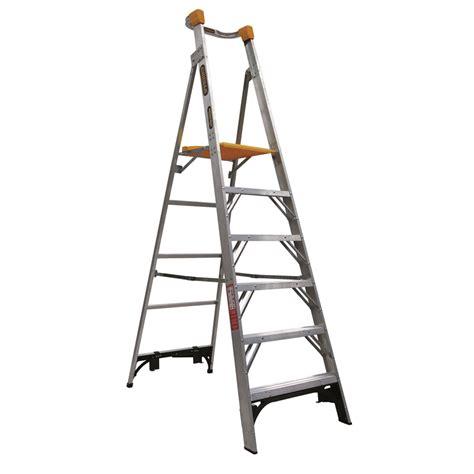 aluminium ladder bunnings gorilla 1 8m 150kg aluminium platform ladder bunnings