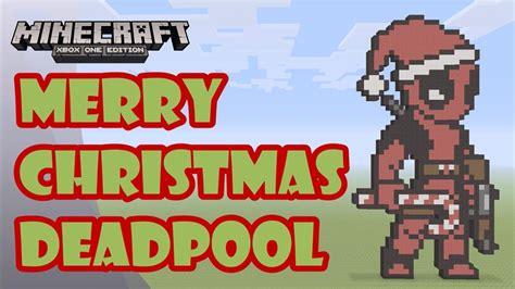 best pixel merry christmas minecraft pixel tutorial and showcase merry deadpool