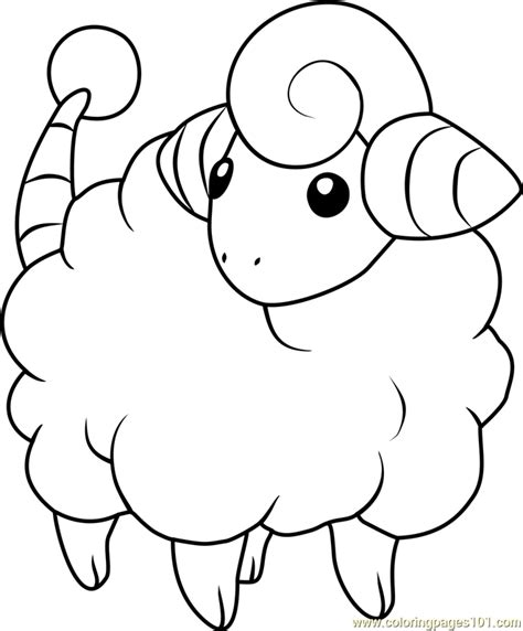 mareep pokemon coloring page  pokemon coloring pages