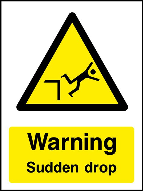 Sudden Drop Sign  Health And Safety Signs. Waste Recycling Signs Of Stroke. Euro 2016 Stickers. Cute Signs. Exposure Signs Of Stroke. Werewolf Decals. Lightbox Signs Of Stroke. Lowdown Signs. Business Label Stickers