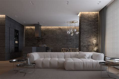 Luxurious Apartment Design With Sexy Dark Interior Style