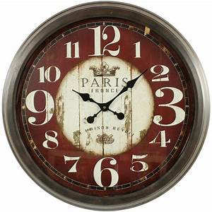Horloge Murale Rouge : grande horloge ancienne murale paris france 70cm ~ Teatrodelosmanantiales.com Idées de Décoration