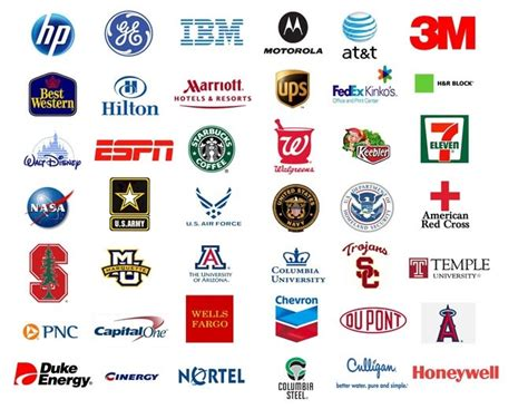 List Of Logos With Names Of The Company