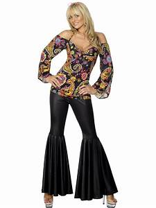 8-26 Hippie Costume 60s 70s 80s Disco Ladies Hippy Top ...