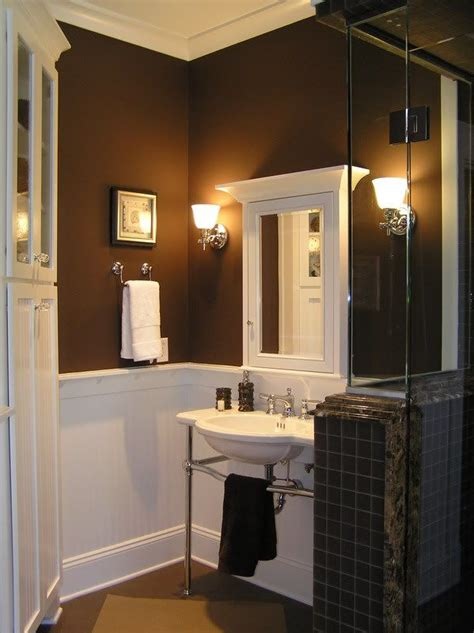 chocolate brown bathroom ideas since brown is a neutral it is an excellent base
