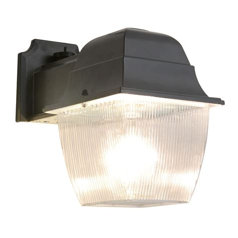 dusk to dawn light lowes shop utilitech 1 head 70 watt black metal halide dusk to