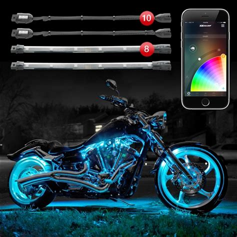 underglow lights for motorcycle xkchrome ios android app bluetooth advanced 10 pod