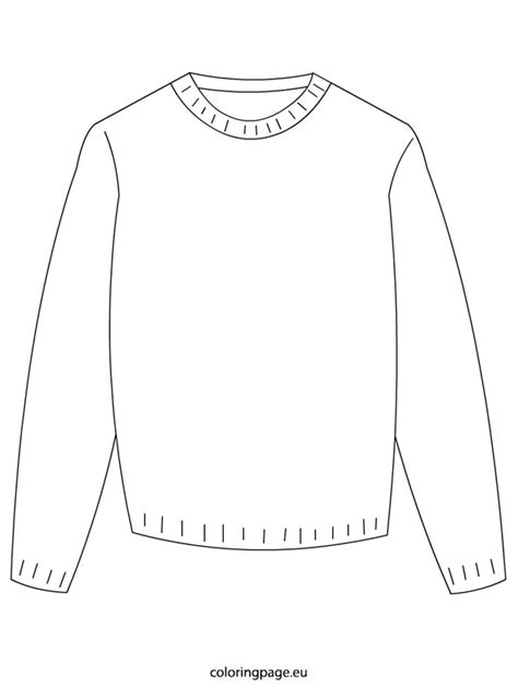 sweater template winter sweater coloring page