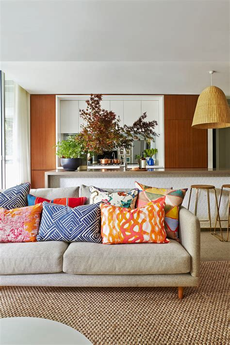Decorative Pillows For Couch Living Room Contemporary With