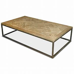 stevenson rustic lodge white wash reclaimed pine metal With pine and metal coffee table