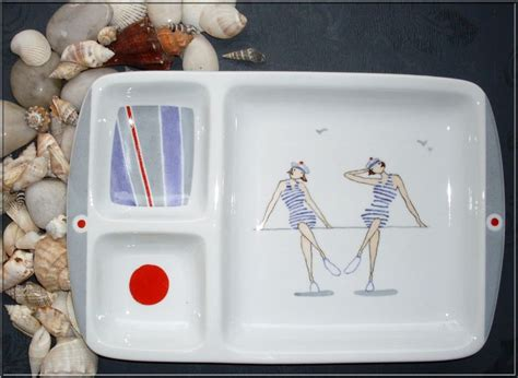 peinture sur porcelaine les dames de la cote   meluse