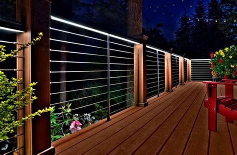 deck railing lights ideas deck lighting tips for your summery outdoor space whomestudio com magazine online home designs