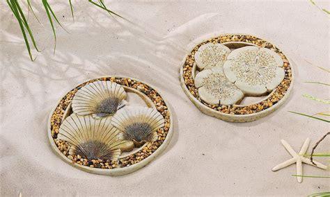 set of 2 11 quot cement oceanic design stepping stones w sea
