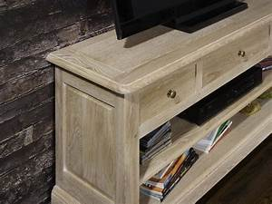 Meuble Tv En Chene Massif : meuble tv 16 9eme en ch ne massif de style louis philippe ~ Teatrodelosmanantiales.com Idées de Décoration