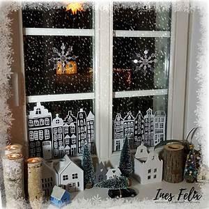 Fenster Bemalen Weihnachten : ines felix kreatives zum nachmachen winter weihnachts fensterdekoration ~ Watch28wear.com Haus und Dekorationen
