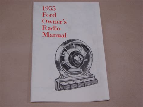 radio owners manual   ford passenger cars