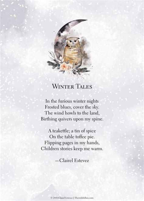 winter poems love life inspirational wintry words
