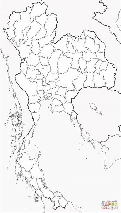 Coloring Thailand Map Pages Supercoloring Printable Drawing