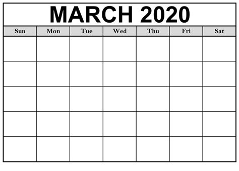 blank march  calendar printable template   heart