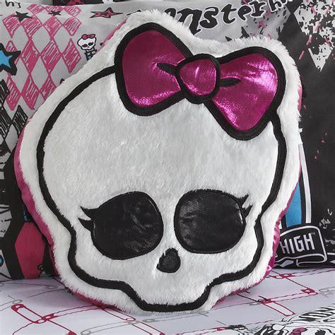 monster high  skull logo girls accent pillow
