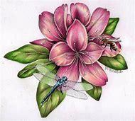 Botanical Pencil Drawings Flowers