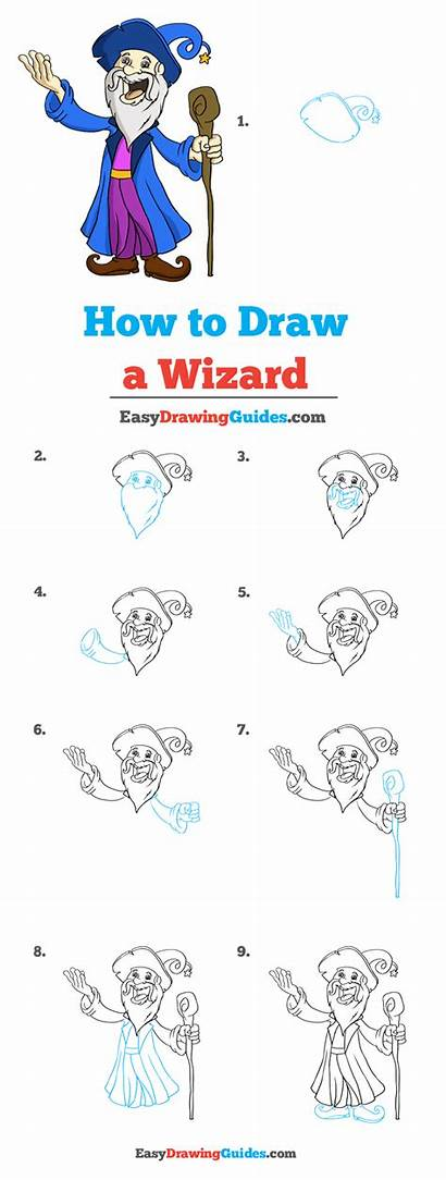 Wizard Drawing Draw Tutorial Easy Easydrawingguides Drawings