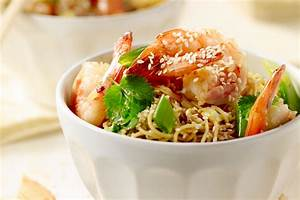 Scampi wok met chinese noedels