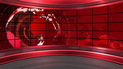 News Tv by News 19 Broadcast Tv Studio Green Screen Background