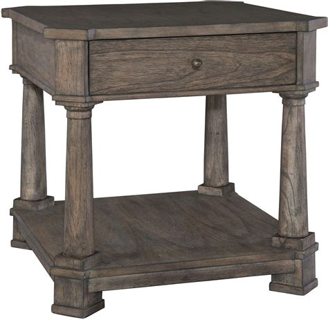 Lincoln Park Gray Drawer Lamp Table From Hekman Furniture