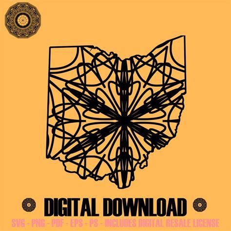 Free unicorn mandala svg, png, eps & dxf by caluya design. Ohio Map Mandala Winter Edition SVG Digital Image Sell ...