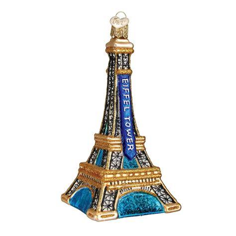 cut crystal eiffel tower xmas ornament eiffel tower ornament