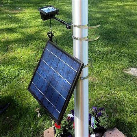 12 led commercial solar flood light flag light greenlytes