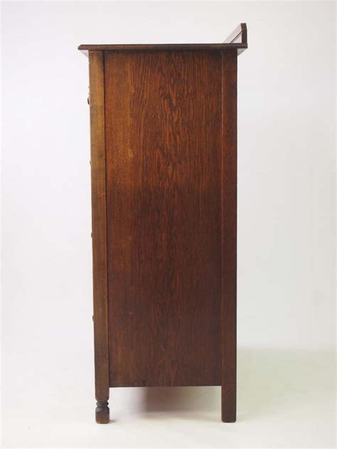 tall vintage oak chest  drawers