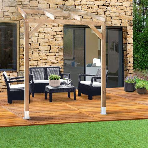 pergola bois adossée pergola adoss 233 e bois trait 233 3x2 m plantes et jardins