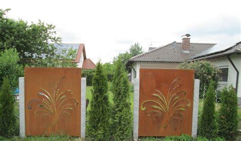 Sichtschutz Rost Garten by Sichtschutz Garten Metall Rost Haus Design Ideen
