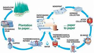 Paper Recycling Process Diagram