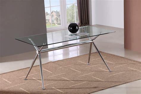 marengo  base design rectangular dining table  glass