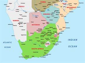 Southern Africa Countries Map