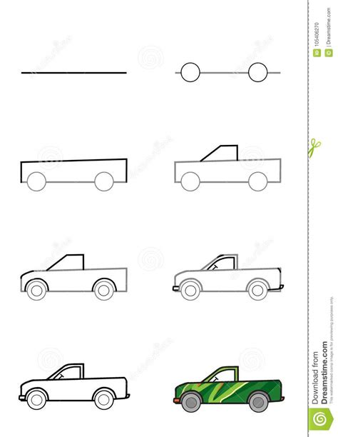 How To Draw A Car Step By Step With Pictures by Machines D Extraction Par Des 233 Dessin D Un Camion