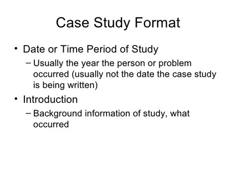 Template For Writing A Study by Writing A Study