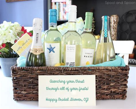 Wine Basket Shower Gift - spool and spoon quot all of your firsts quot wine gift basket