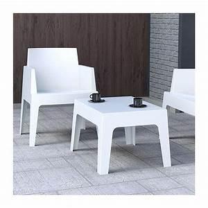 Table Basse Longue : table basse de jardin en polypropyl ne box 4 ~ Teatrodelosmanantiales.com Idées de Décoration