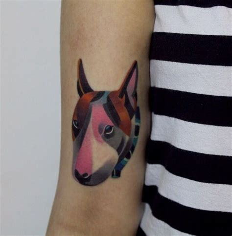 coolest english bull terrier tattoo designs