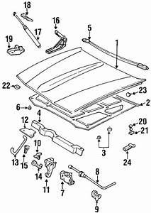Cadillac Eldorado Hood Lift Support Stud  Inner Half  To