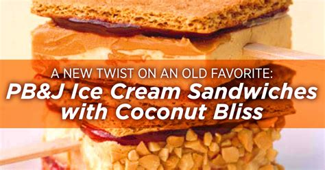 Pb & J Ice Cream Sandwiches With Coconut Bliss